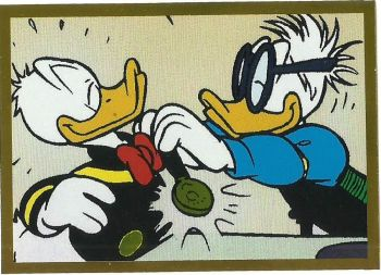 Panini Donald Duck Sticker Story, Sticker #111 (Folien-Sticker mit Dettmar Duck)